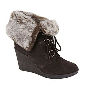 Bjorndal Kouri Suede Leather Fur Boots / Booties 7